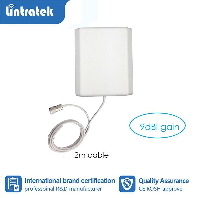 Внутренняя панельная антенна с усилителем 9 дБ с кабелем 2 м, GSM/3g/4G, комнатная антенна для ретранслятора мобильного сигнала с кабелем 2 м S6