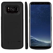 5000/6500mAh Batterie Ladegerät Fall Für Samsung Galaxy S8 Tragbare Reise Lade Power Bank Telefon Fall Abdeckung Für samsung S8 Plus