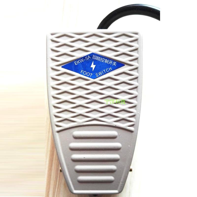 Ножной переключатель EKW-5A-B, металлический алюминиевый корпус, для контроля пищевых продуктов, сварочный аппарат для точечной сварки