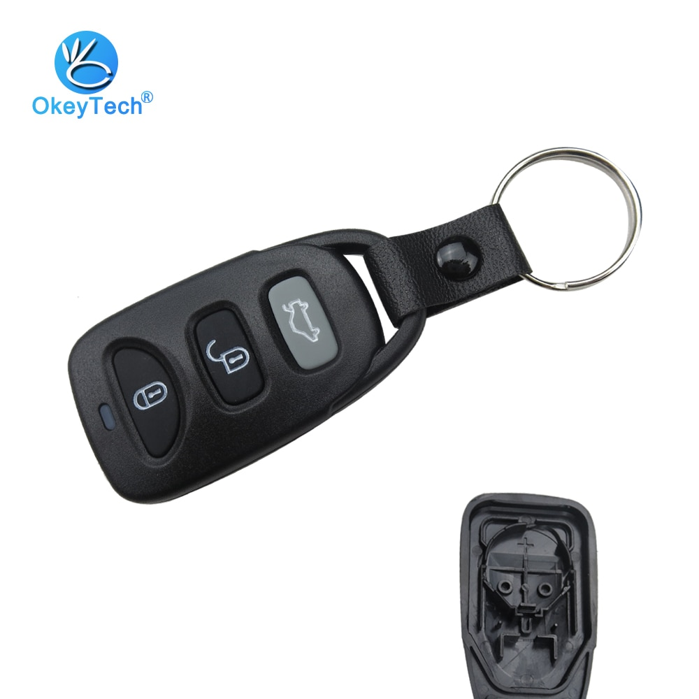 OkeyTech 2+1 3 Button for Hyundai Tuscon Accent Elantra Santa Fe Matrix Atos Remote Control Car Key Shell With Battery Location