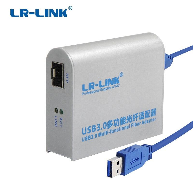 LR-LINK 3210PF-SFP USB 3.0 Gigabit Ethernet Adapter 1000 Mb Faser Optische Netzwerk Karte Lan Adapter Realtek RTL8153 nic