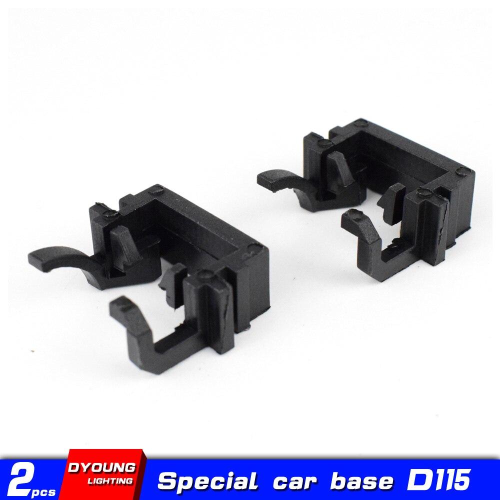 Dyoung 2 pçs d115 h1 basefactory faróis acessórios do carro led adaptador h1 para ford focus fiesta mondeo