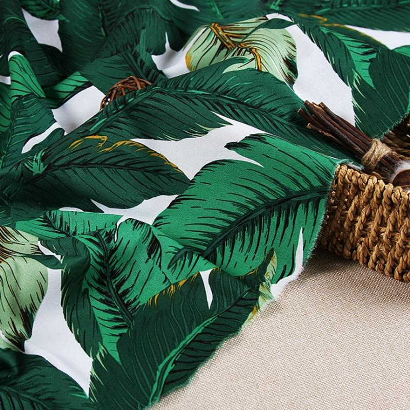 Material de satén de algodón de calidad de 50cm x 145cm, tela de plátano verde ligeramente elástica