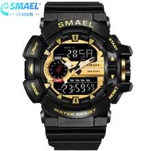 LED Digital Uhr Männer Sport Handgelenk Uhren 2019 Uhr Berühmte Top Marke Luxus SMAEL Elektronische Digital-uhr Relogio Masculino,