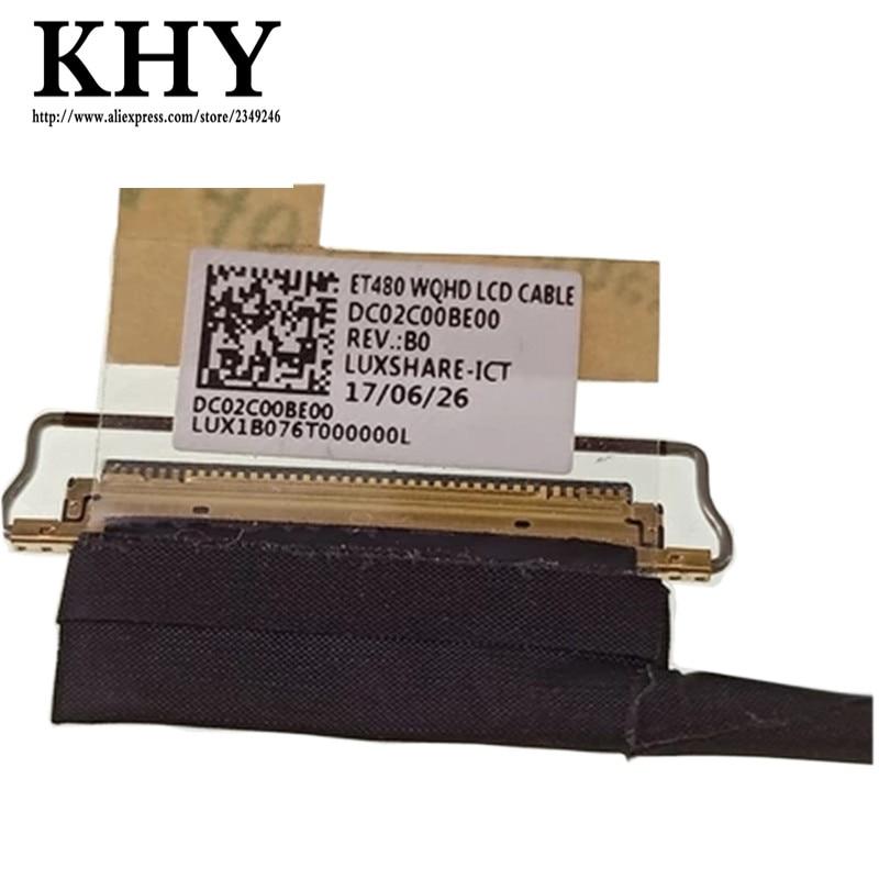 Original novo Cabo LCD WQHD Cabo LCD para ThinkPad FRU T480 ET480 01YR503 DC02C00BE00 DC02C00BE20