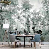 beibehang nordic elk forest custom photo mural wallpaper for wall paper painting living room decoration decoration home garten