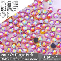 upriver wholesale large pack bulk packing glass ss16 ss20 ss30 hyacinth ab hotfix rhinestones