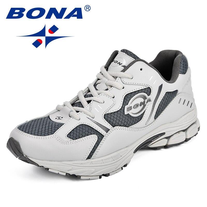 BONA, zapatillas de deporte de otoño para hombre 2018, zapatillas para correr para hombre, zapatillas deportivas de tendencia, zapatillas transpirables para correr, cómodas para exteriores