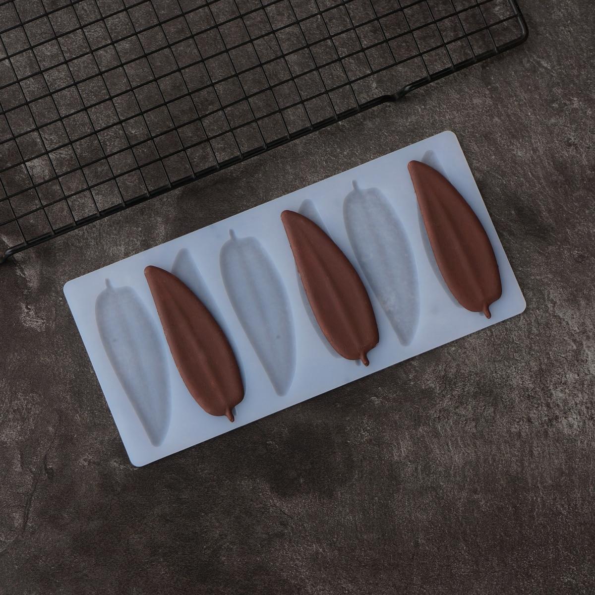 Длинная узкая форма листа шоколадная форма для украшения торта Lanceolate листья для переноса шоколада форма для выпечки трафарет Chablon