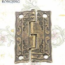 Charnière Antique de boîte à bijoux   Armoire à meubles, 20 pièces, emballage daccessoires, charnière montée sur Surface 36*23MM