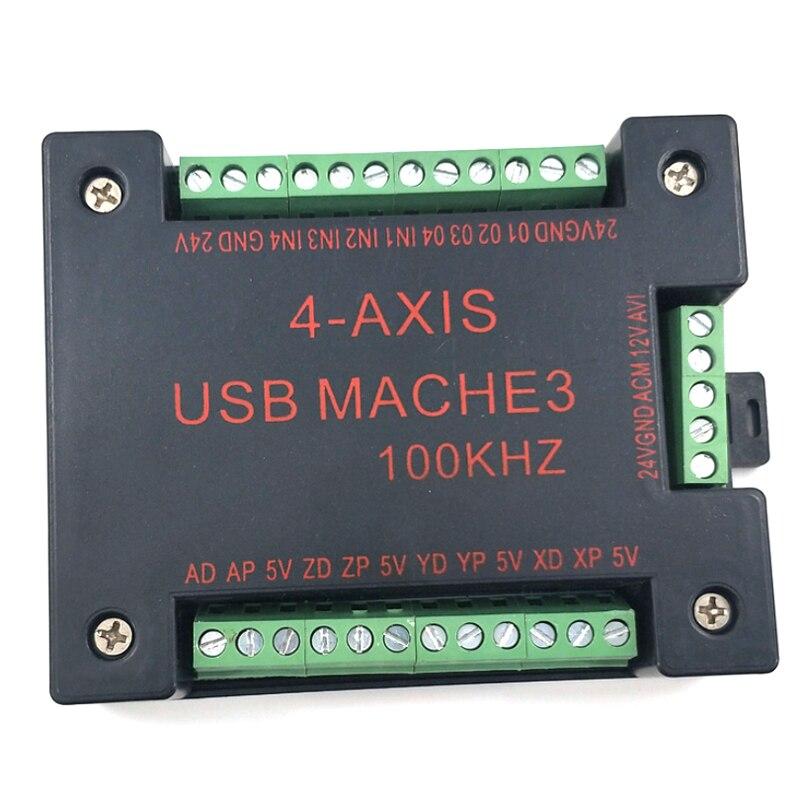 CNC USB MACH3 100Khz لوحة الاختراق ، 4 محاور واجهة تحكم الحركة