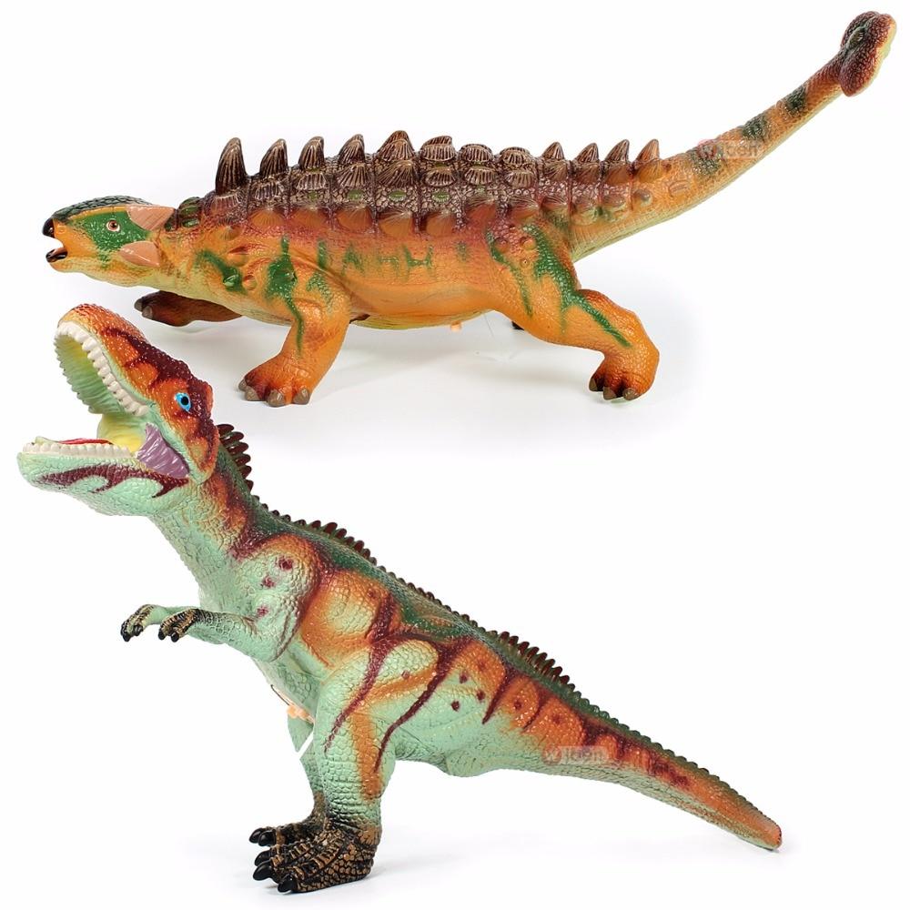 Dinosaurio de juguete grande Jurassic Tyrannosaurus Rex Ankylosaurus Animal suave modelo niños regalos