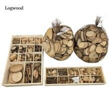 Logwood 30-50 pièces bébé bricolage jouet Nature bois Art & Craft à la main créer en bois jouet éducatif originalité bois pour enfants cadeau