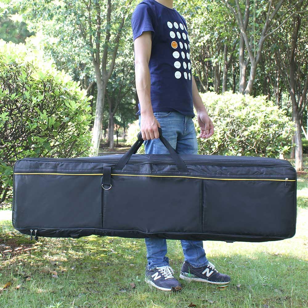 حقيبة لوحة مفاتيح عالية الجودة محمولة احترافية متينة ذات 88 مفتاحًا ، حجرة بيانو كهربائية ، غطاء واقي مقاوم للماء