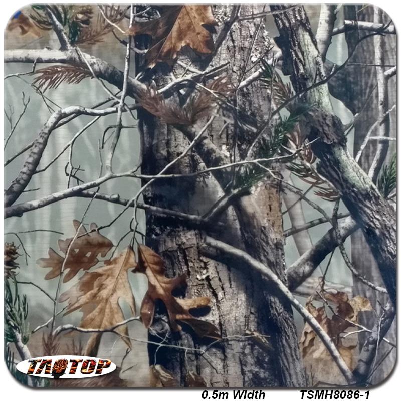 TSMH8086-1 10 m * 0.5 m Top Vender Padrão Camo Real Árvore de Folhas de Transferência De Água Impressão Hidro Gráficos Film