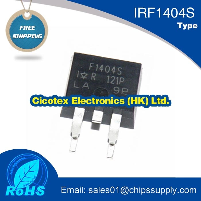 10pcs/lot IRF1404S TO-263 NPN IRF1404STRLPBF SMD F1404S MOSFET N-CH 40V 162A D2PAK