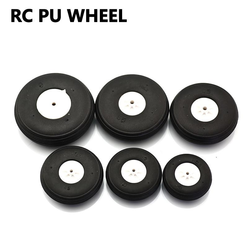 2 Stks/partij Md Wiel Rubber Pu Plastic Hub Diameter 35/40/45/50/55/60mm Voor Rc Vliegtuig Vervangende Onderdelen Groothandel