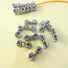 10 pièces croix tibétaine Vajra breloques Dorje amulettes bijoux accessoires TSB0504