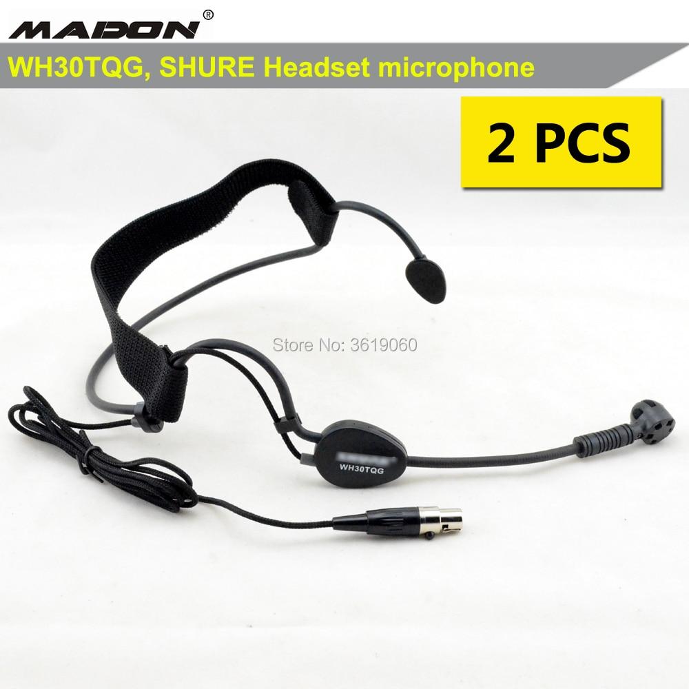 Free Shipping , 2 pcs whole sales shuretype WH30TGQ ,xlr headset microphone