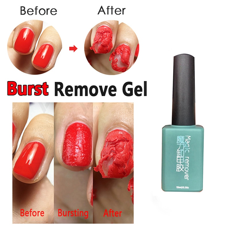 15ml New Magic Nail Burst Gel Nail Remover Acrylic Soak Off Polish UV Gel Clean Degreaser To Make Gel Polish Fall Off TSLM1