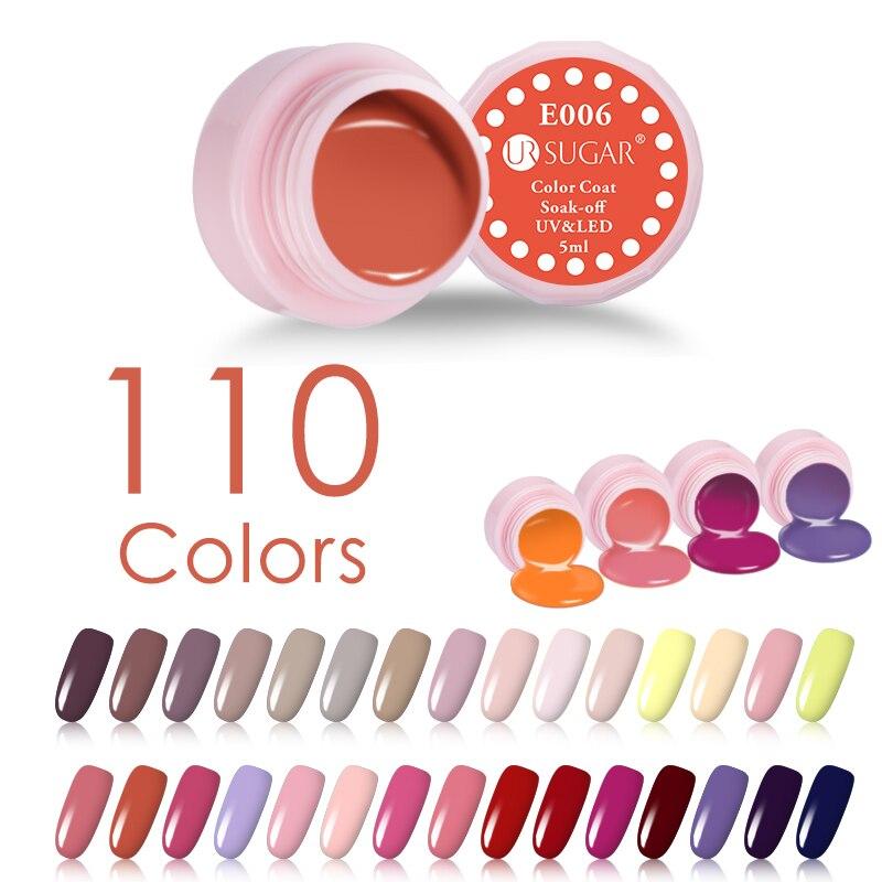 Bright Color UR SUGAR Soak Off Long Lasting UV Gel 110  UV LED Nail Color Gel varnish Color Nail Varnish 1 Box