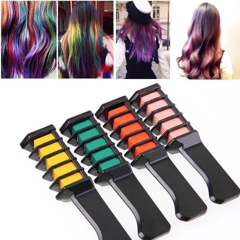 1PC Disposable DIY Hair Dye Comb Salon Temporary Mascara Dye Hair Color Crayons for Hair Color Chalk Personal Hair Dyeing Tool