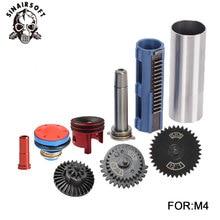 SHS 121 Guide de ressort de cylindre de buse de vitesse Kit de Piston de 14 dents pour Airsoft M4 M16 AK MP5 G36 pour accessoires de chasse au Paintball
