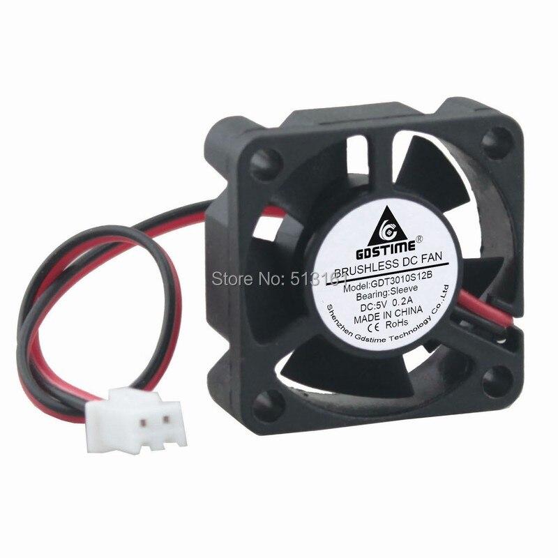 10PCS Gdstime 3010 30mm x 30mm x 10mm 5V 2Pin Mini Brushless DC Cooling Cooler Fan