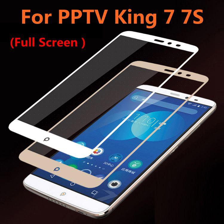 ShuiCaoRen para PPTV King 7 vidrio templado Original 9H 3D cubierta completa película protectora de pantalla a prueba de explosiones para PPTV King 7S King7
