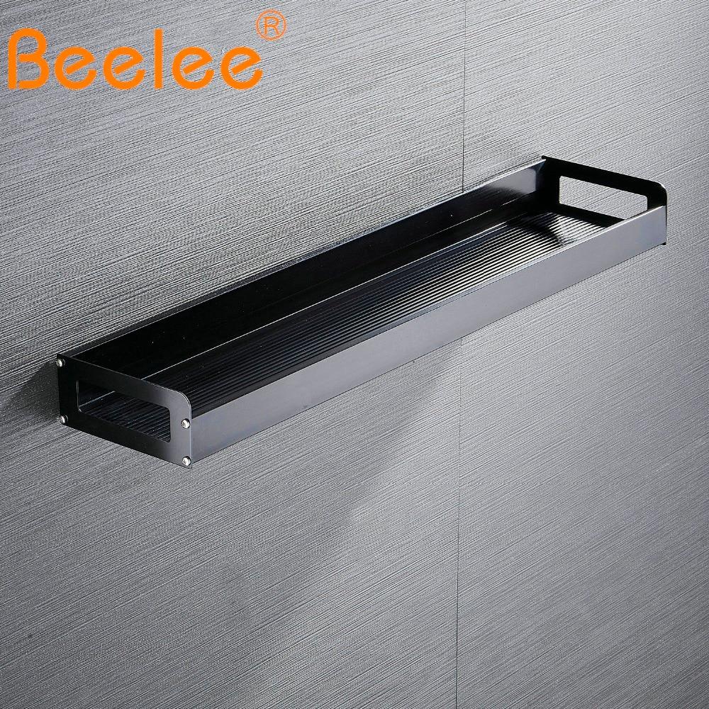 Beelee-أرفف مثبتة على الحائط للحمام والمطبخ ، إكسسوارات الحمام ، خالية من سبائك الألومنيوم ، سلة دش ، رف BA28801B40