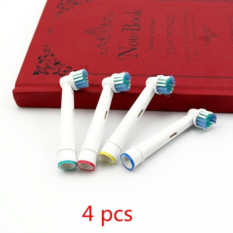 4 Uds cabezales de repuesto para cepillo dental Oral-B eléctrico aptos para Advance Power/Pro Health/Triumph/3D Excel/vitalidad precisión Cl