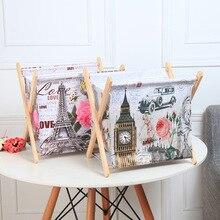 ROSEHOME panier de rangement en bois   Porte-revues de journaux, porte-bijoux pliable, en toile imperméable, vêtements, jouets, organisateur de livres