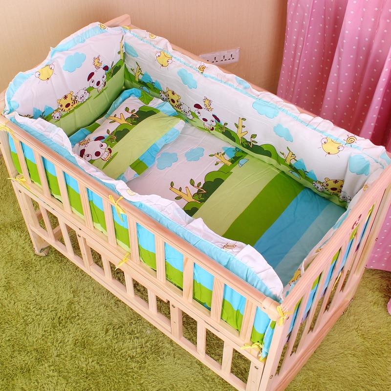 5PCS Newborn Baby Crib Bedding Set For Girl Boy Baby Crib Bumper Baby Bed Sets Cot Bumper Baby Bed Bumper 90x50cm CP01S