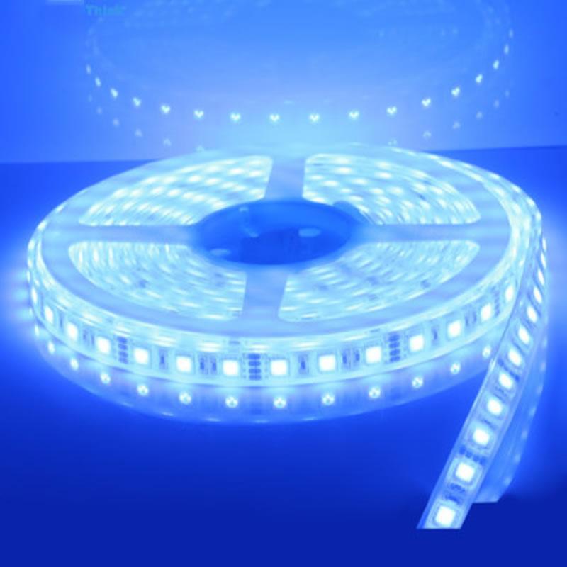 1x nuevo 16,4 pies barco marino azul blanco cálido IP68 impermeable LED tira de luces 60LED/M blanco PCB