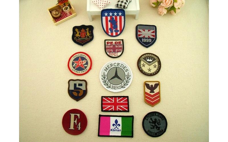 custom badges embroidery custom logo military badge tag 100pcs lot