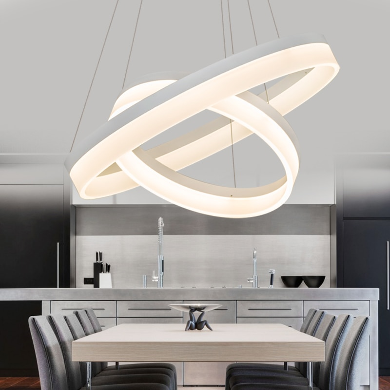 Modern LED Pendant Lights For Dining Living Room Hanging Circel Rings Acrylic suspension luminaire Pendant Lamp Lighting lampen  - buy with discount