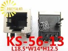 Livraison gratuite 20 pièces x RJ11 56 demi-bouclier type 6P6C PCB à Angle droit téléphone modulaire prise téléphonique femelle connecteur LAN