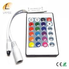 DC12V 24Key Mini RGB Controller IR Remote Controller With Mini Dimmer for 5050/3528 Led Strip Lights 12V