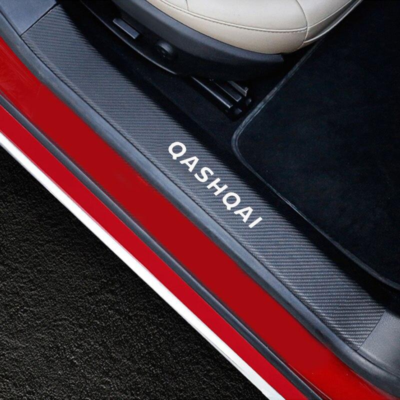 Автомобильные аксессуары, автомобильные дверные пороги для Nissan Qashqai, Накладка на порог двери, порог, Накладка на порог, углеродное волокно, из искусственной кожи, 4 шт.