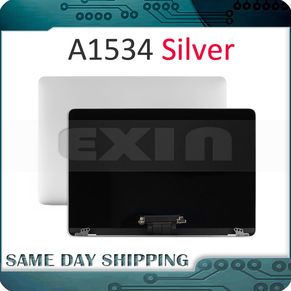 "Cor Prata Original Tela LCD para Apple Macbook Retina A1534 12 ""A1534 LED LCD Screen Display Assembléia Completa 2015 2016 2017"