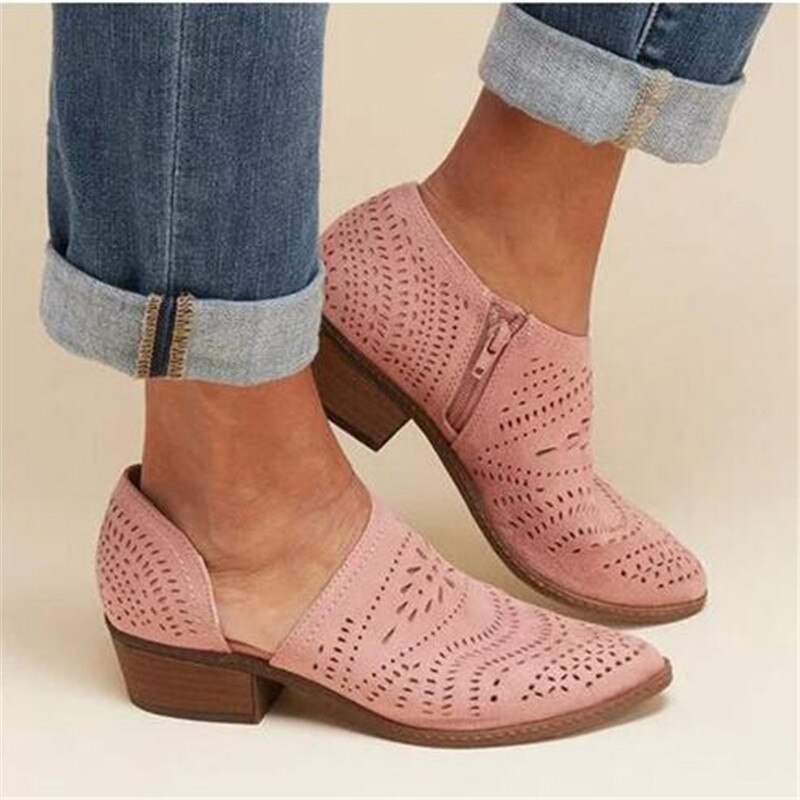 AliExpress - Flat Platform Shoes Women Brogue Shoes Leather Pointed Toe Oxford Shoes Women Pink Yellow Casual Shoes mujer Plus Size 34-43