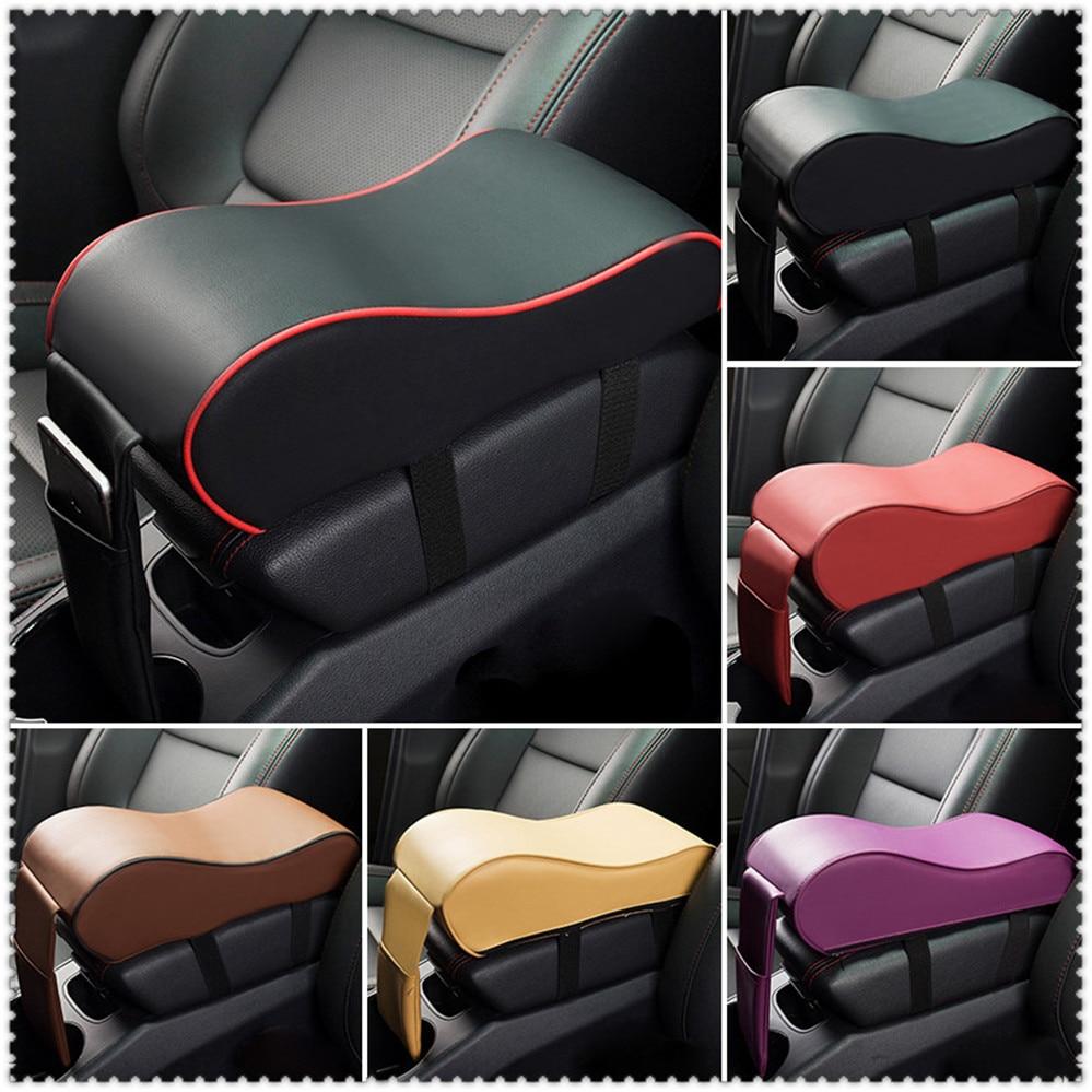 Almohadilla Reposabrazos de coche de cuero de consola brazo resto asiento caja para Chevrolet Trailblazer Onix Tru Orlando código Captiva Aveo vela