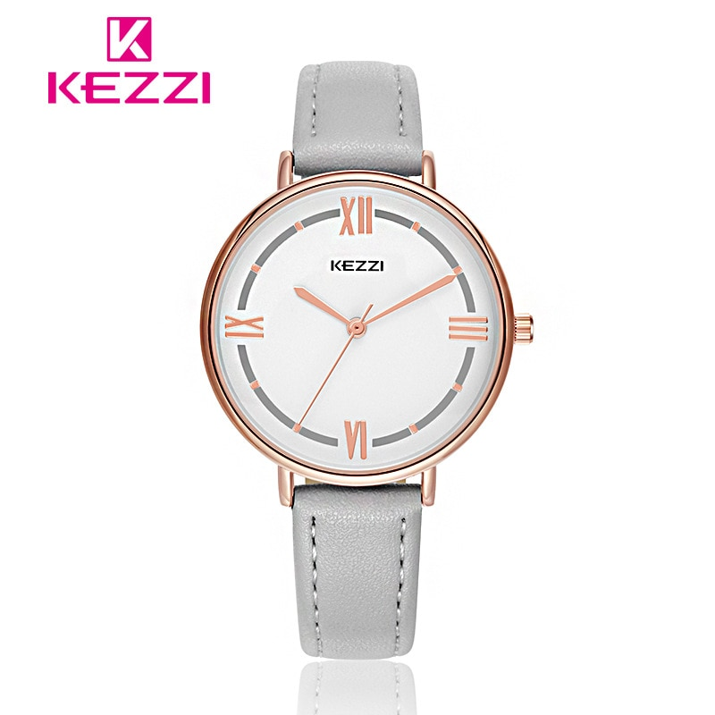 Relojes de pulsera de cuarzo para mujer de moda ketzi Color caramelo reloj de cuero para mujer a prueba de agua relojes de estudiante para chica reloj Montre Femme regalo