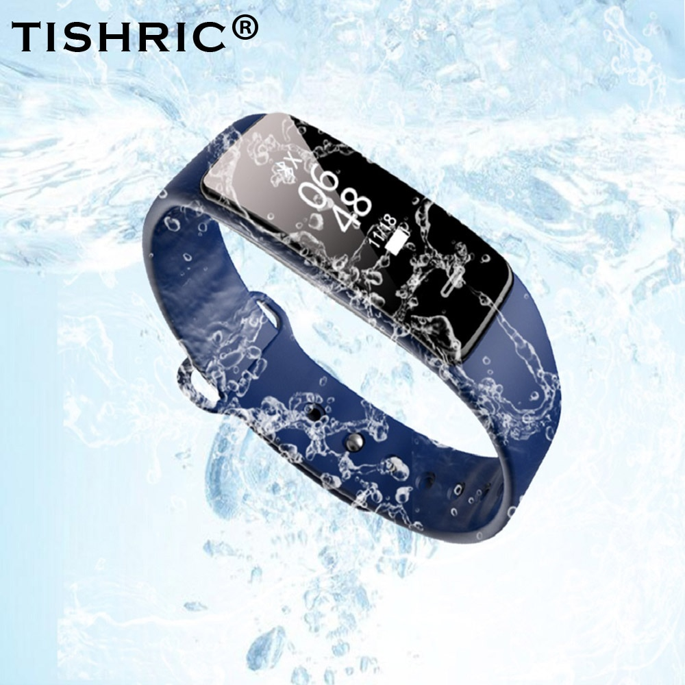 Tishric relógio smartwatch dx300, pulseira inteligente, monitor de atividades, unissex, a prova d água, para iphone/xiaomi mi 3 3