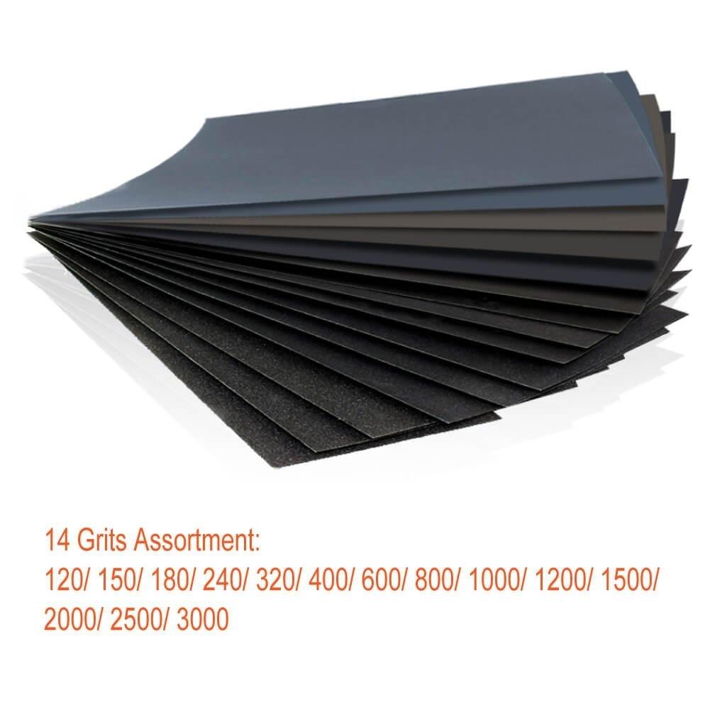 42 pz carta vetrata ad umido assortimento da 120 a 3000 fogli di - Utensili abrasivi - Fotografia 2