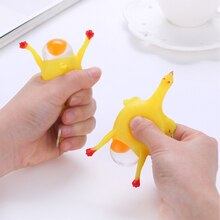 1PC Surprise Squishy jouet Anti-Stress presser jouets poulet & oeufs poules pondeuses drôle Gadgets nouveauté autisme humeur soulagement TSLM1