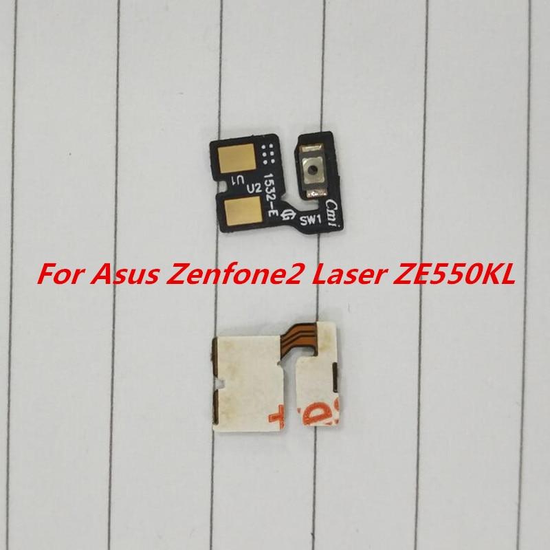 """50 unids/lote botón de encendido/apagado Cable flexible para Asus Zenfone 2 Laser ZE550KL 5,5 """"piezas de repuesto de teléfono"""
