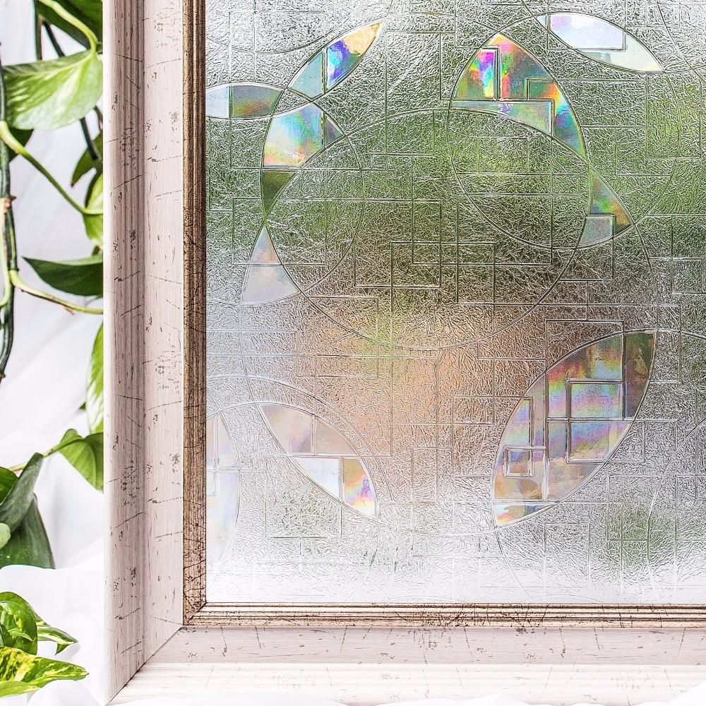 CottonColors ПВХ Водонепроницаемый Window Films, без Клея Статические 3D Декоративные Конфиденциальности Фильм, оконное Стекло Наклейки, размер 60 х 200 С...