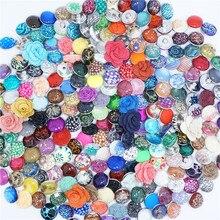 50 unids/lote mezcla 18mm broches de resina botones de moda de joyería de fotos Botón Ajuste broche xinnver pulseras brazaletes collar ZD000