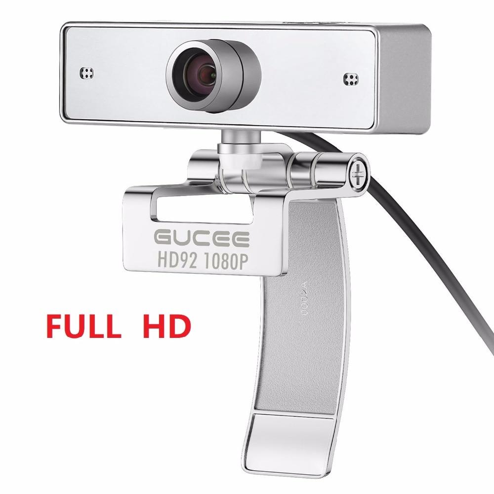 كاميرا ويب GUCEE HD92 كاميرا الويب عصر لسكايب مع ميكروفون مدمج 1920x1080p USB التوصيل والتشغيل كاميرا الويب عريضة الفيديو